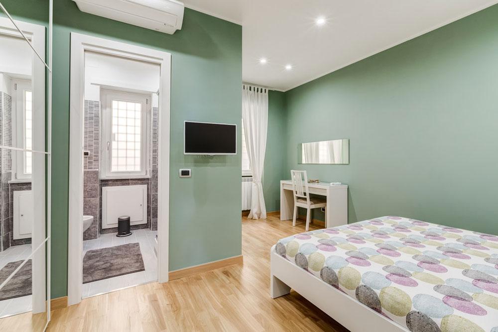 Appartamento-Zona-Vaticano-Roma-by-Luca-Tranquilli-Photographer Green bedroom ideas: design, decoration and accessories