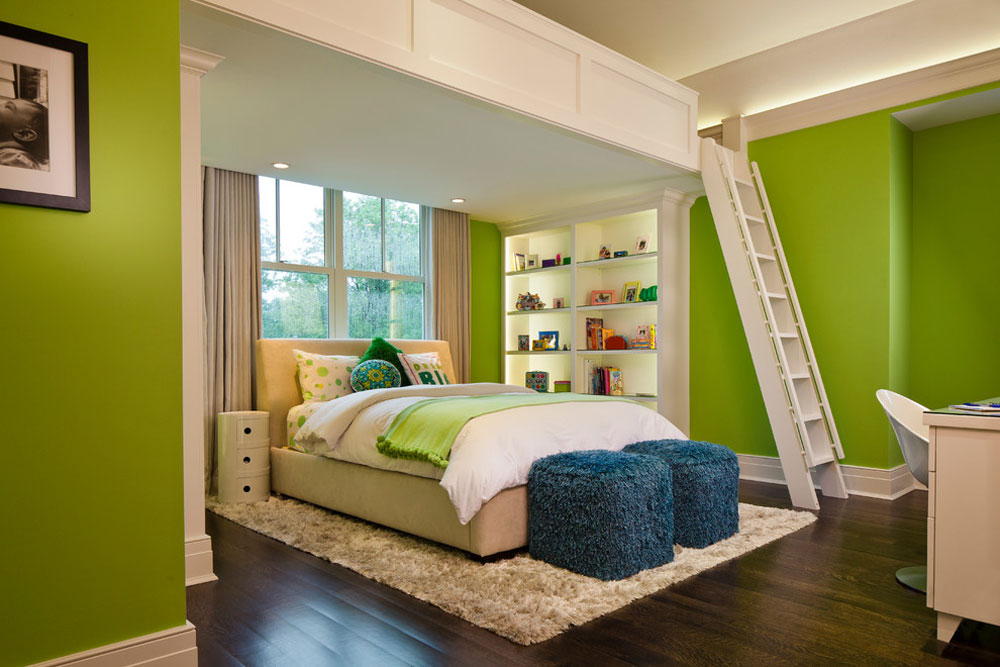 Crescent-Home-by-H.-Gary-Frank-Architects Ideas for green bedrooms: design, decoration and accessories