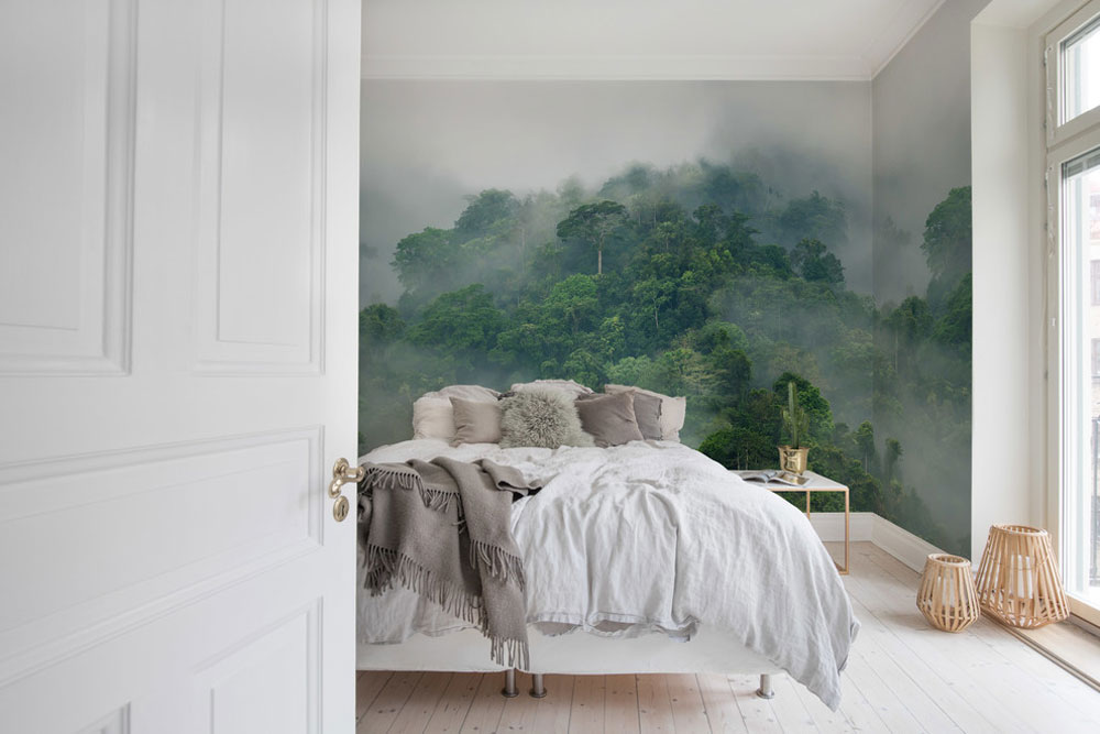 Misty-Forest-by-Rebel-Walls - Green bedroom ideas: design, decoration and accessories