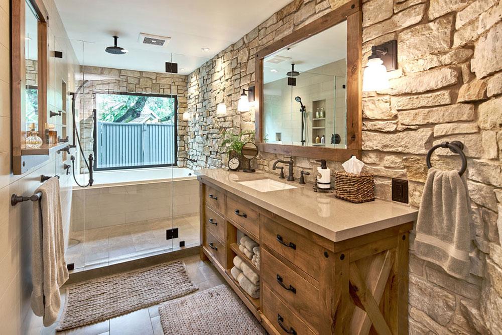 Modern-Master-Retreat-by-Ammirato-Construction-Inc.  Rustic bathroom design: ideas, vanities, decor and lighting