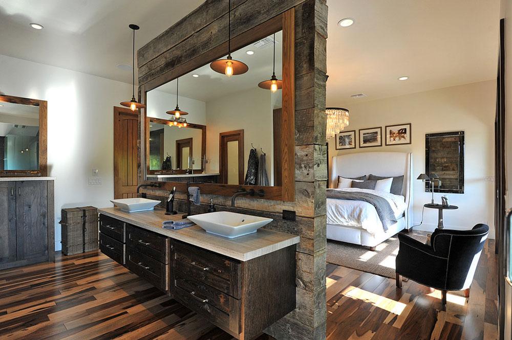 Rustic Glamor-by-JRP-Design-Remodel Rustic bathroom design: ideas, vanities, decor and lighting