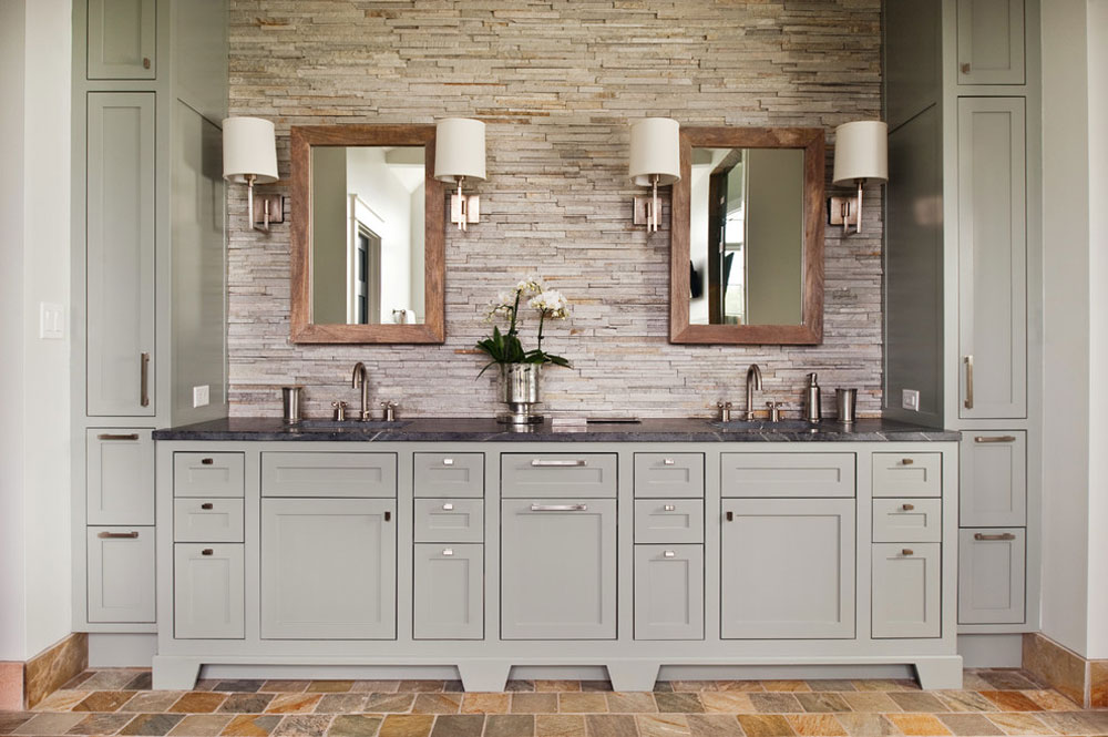 Mountain-Road-Residence-by-Visible-Proof Rustic bathroom design: ideas, vanities, decor and lighting