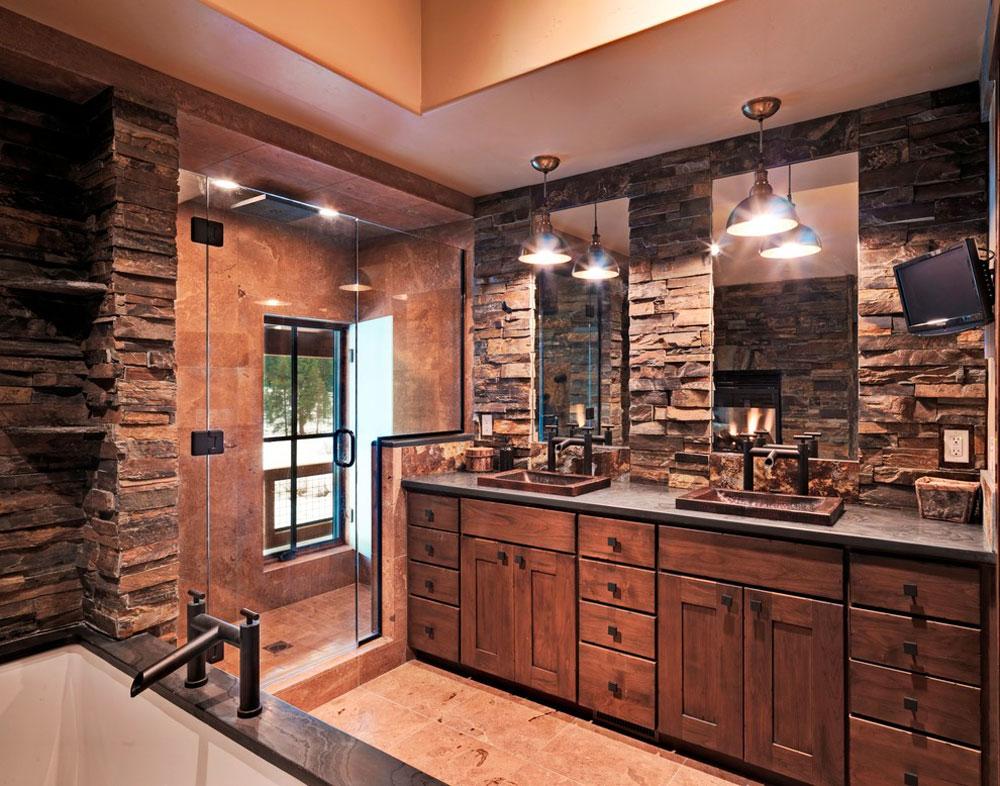 Lahontan-Home-Truckee-von-Griggs-Custom-Homes-Inc.  Rustic bathroom design: ideas, vanities, decor and lighting