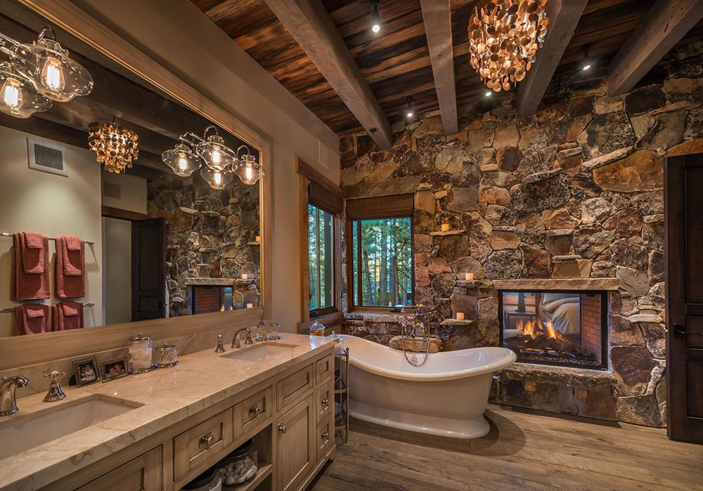 Natural-Bungalow-by-Interior-Design-by-Julie-Johnson-Holland Rustic bathroom design: ideas, vanities, decor and lighting