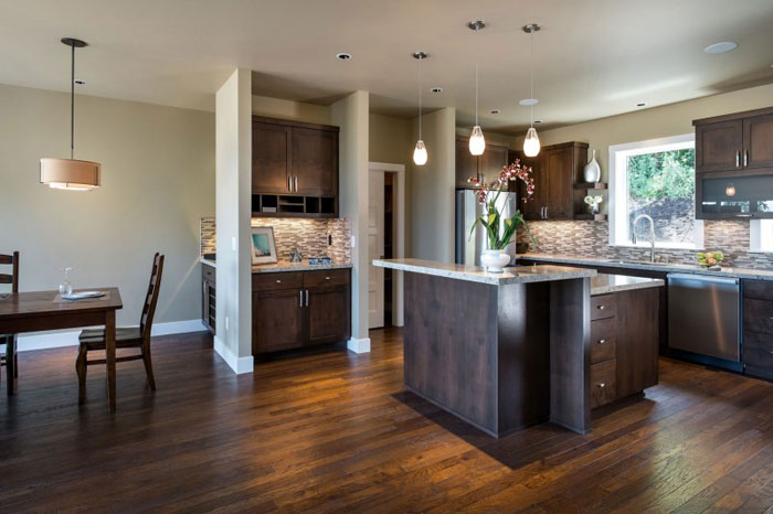 82285452924 House with natural stone and wood exterior and a high-end interior