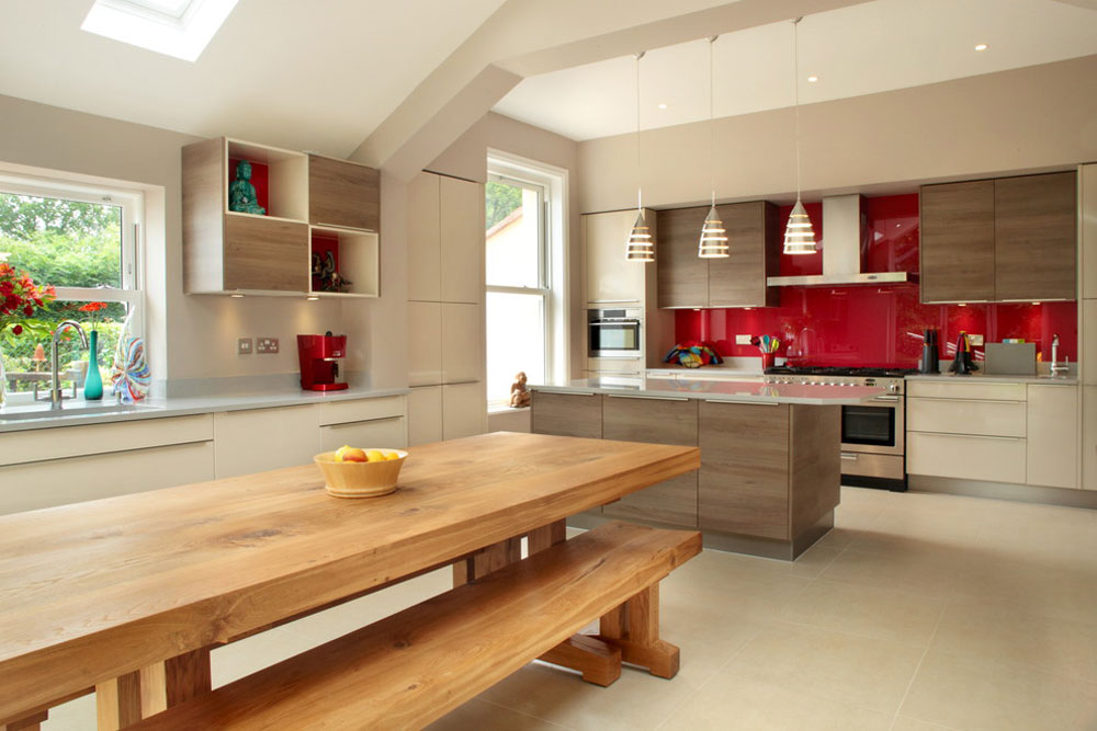 Contemporary kitchen by Design-a-Space Red Kitchen Design: ideas, walls and decor