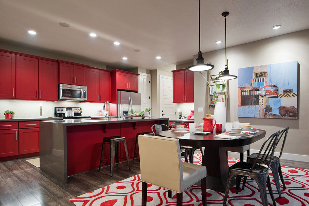 Snowmass-Plan-Independence-by-Candlelight-Homes Red kitchen design: ideas, walls and decor