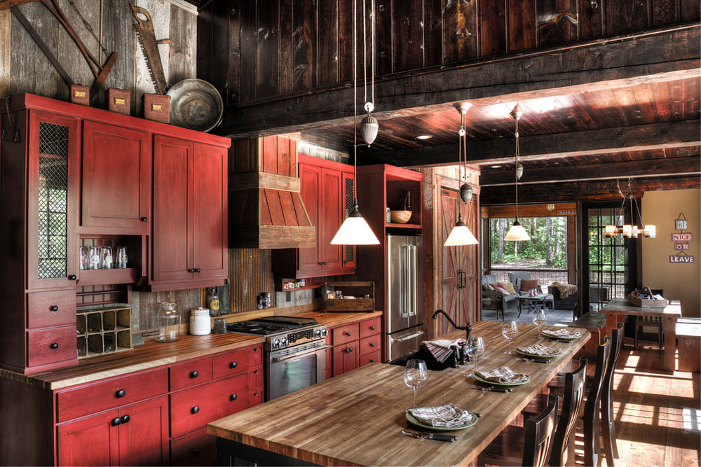 Wynne-Lake-by-Lands-End-Development-Designer-Builde Red Kitchen Design: Ideas, Walls and Decor