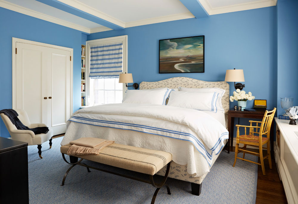 Upper-West-Side-Master-Bed-by-Christopher-Maya-Associates-Inc.  Blue bedroom design ideas to try out in your home
