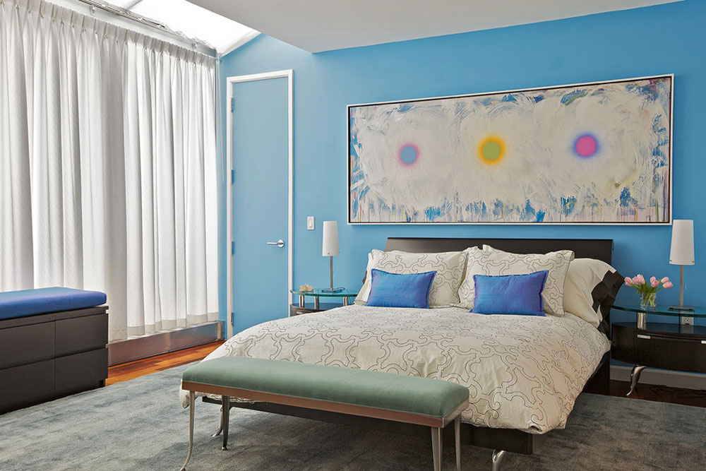 Tribeca-Penthouse-by-Marie-Burgos-Design Blue bedroom design ideas to try in your home