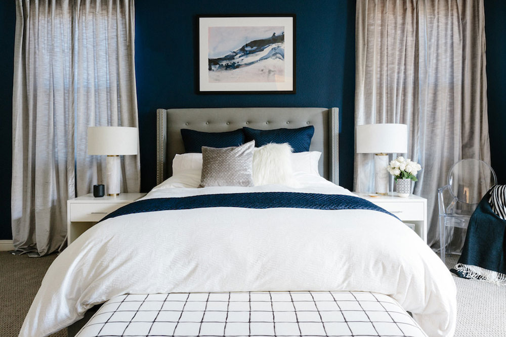 Sophisticated and Dramatic Egg Shell Home Rosanna Bassford Blue Bedroom Design Ideas To Try In Your Home