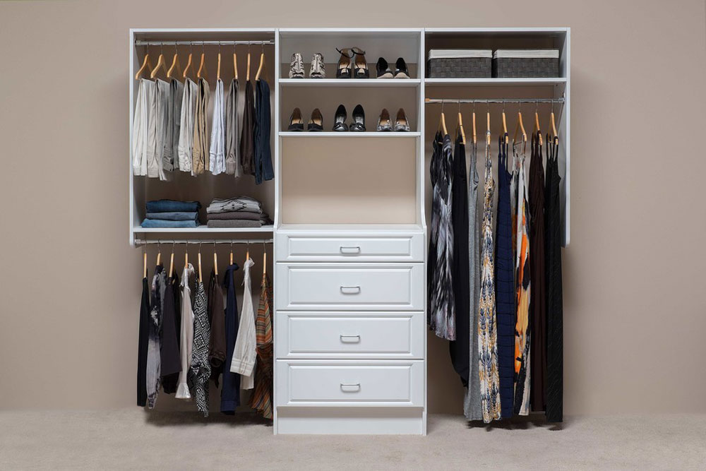 Custom-Reach-In-Closets-by-Mountain-Sky-Closets Clothes rack ideas to try out (hanging, free-standing, wood, metal)