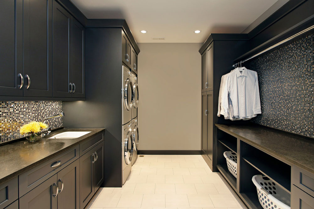 Transition-laundry-room-of-Abruzzo-kitchen-bathroom clothes rack ideas to try out (hanging, free-standing, wood, metal)
