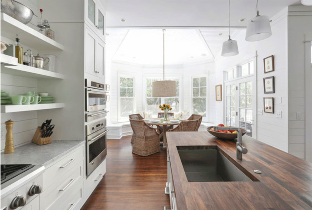 Sullivans-Island-Family-Home-Renovation-by-Diament-Builders- Wood countertops: solid, rustic, natural kitchen counters