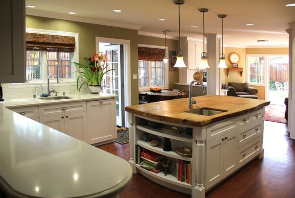 New-Kitchen-by-Madson-Design-wood countertops: solid, rustic, natural kitchen countertops