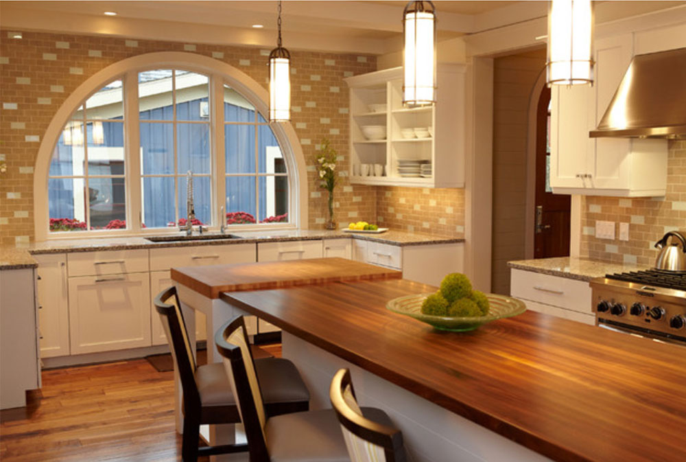 Pentwater-Lake-Cottage-by-New-Urban-Home-Builders-Wood-Countertops: Solid, Rustic, Natural Kitchen Counters