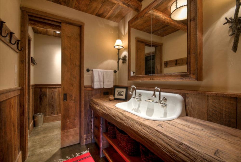 Big-Sky-Ansel-Haus-von-Laura-Fedro-Interiors-Inc-Wood countertops: solid, rustic, natural kitchen counters