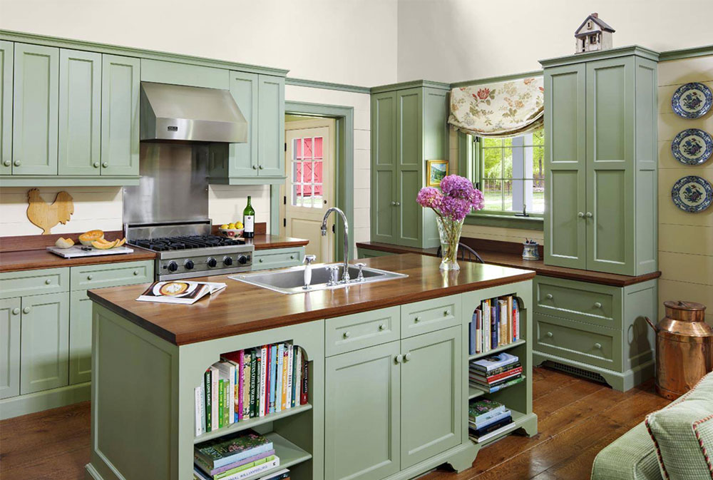 Farm-Cottage-by-Rosewood-Custom-Cabinetry-Millwork-Wood Countertops: Solid, Rustic, Natural Kitchen Counters