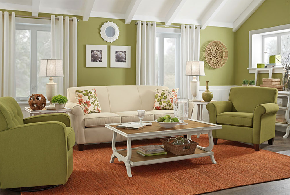 Living room-by-woodchucks-fine-furniture-decor Green living room ideas: walls, chairs, color