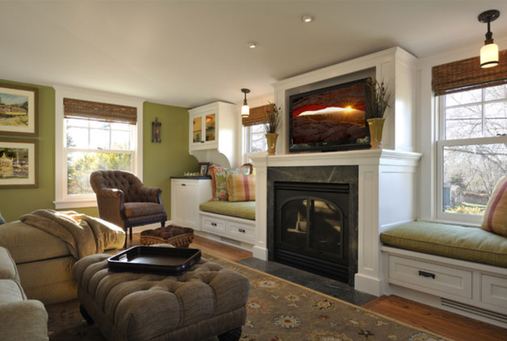 Room-by-Lake-Country-Builders-Green living room ideas: walls, chairs, paint