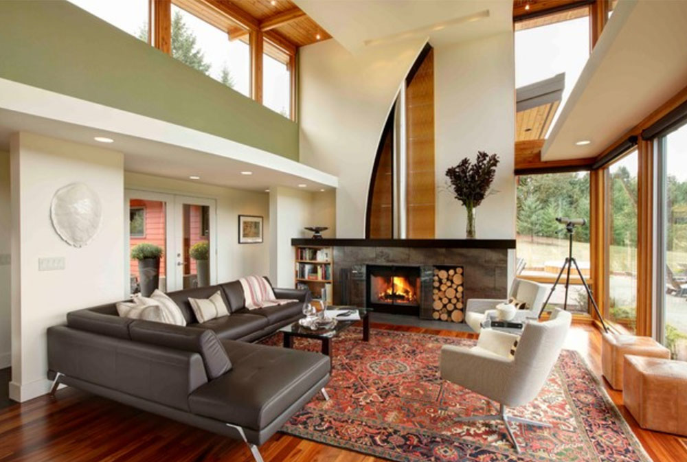 Modern-Portland-New-Construction-Living Room-by-Kraft-Custom-Construction-Green Living Room Ideas: walls, chairs, color