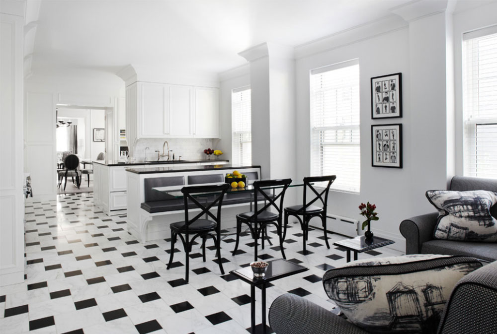 Streeterville-Renovation-by-Q-Construction Black and White-Kitchen-Design-Ideas