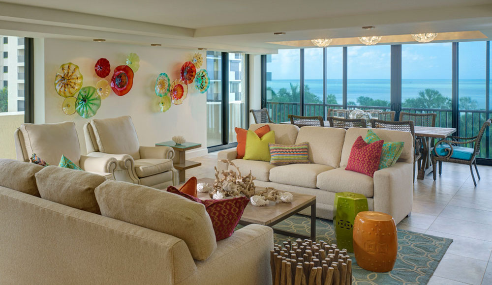 Vanderbilt-Beach-Renovation-LAURA-MILLER-Interior-Design Bright and lively tropical color schemes