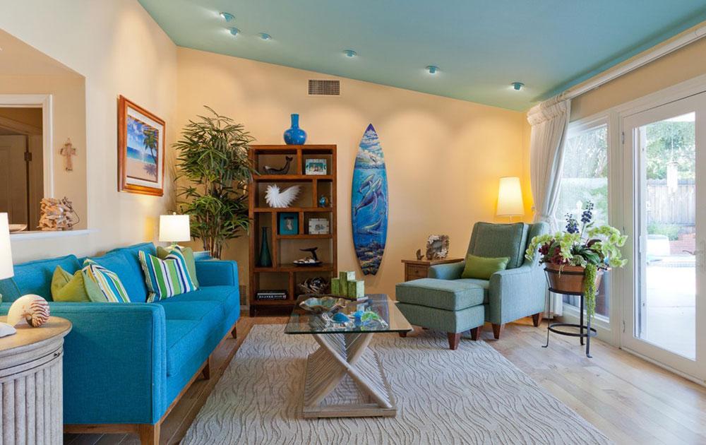 Coastal-Retreat-in-Woodland-Hills-Karen-Grace-Interiors Bright and vibrant tropical color schemes