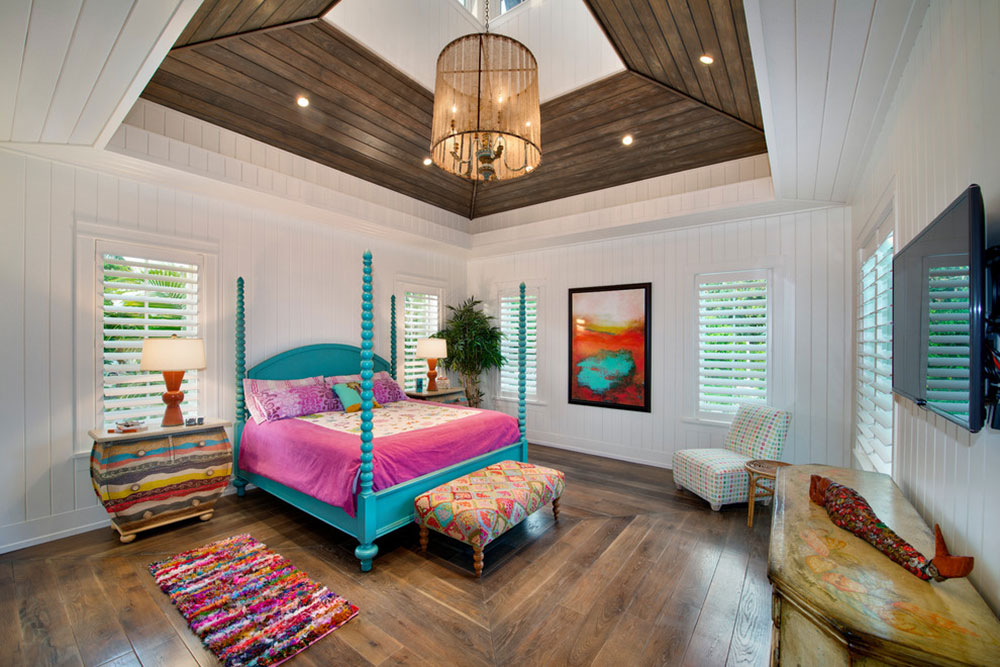Guestroom-Weber-Design-Group-Inc.  Bright and vivid tropical color schemes