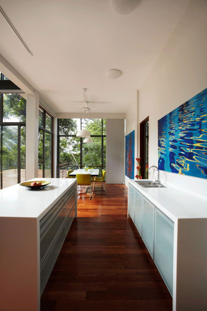 73517637528 Gorgeous deckhouse in the woods Designed by Choo Gim Wah Architect