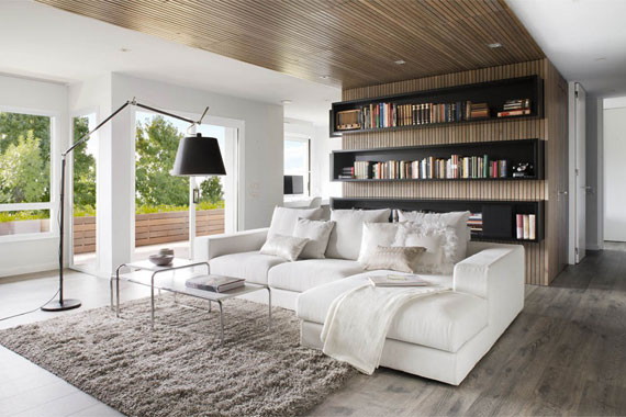 b3 Minimalist apartment with lots of bookshelves designed by Susanna Cots in Barcelona