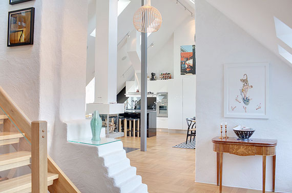 swe14 Luxurious Swedish style top floor penthouse in Östermalm, Stockholm