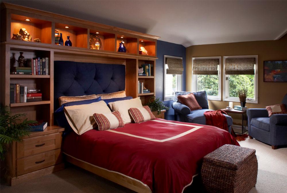 Image-4 bookcase headboard design ideas