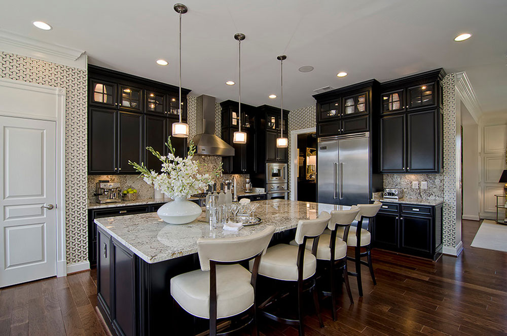 Kitchens-with-black-cupboards-can-still-be-bright12 Kitchens with-black cupboards - pictures and ideas