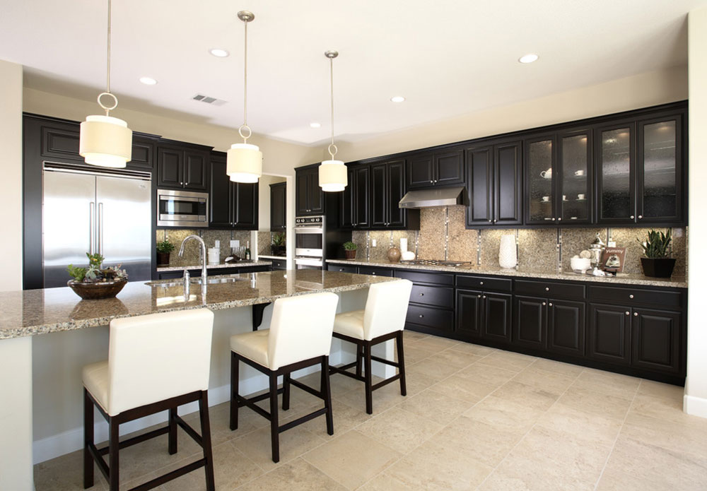 Kitchens-with-black-cupboards-can-still-be-bright13 Kitchens with-black cupboards - pictures and ideas