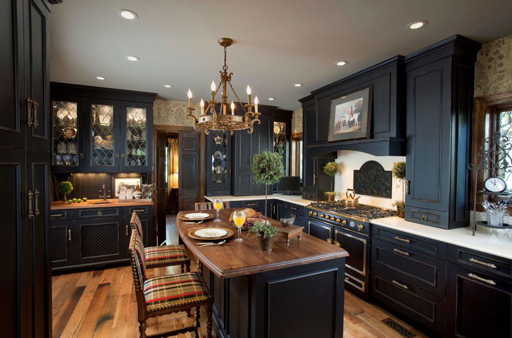 Kitchens-with-black-cupboards-can-still-be-bright7 Kitchens with-black cupboards - pictures and ideas