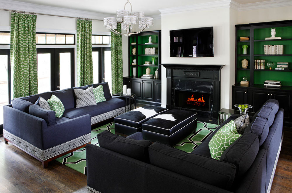 Brilliant shades of green for your living room2 Brilliant shades of green for your living room