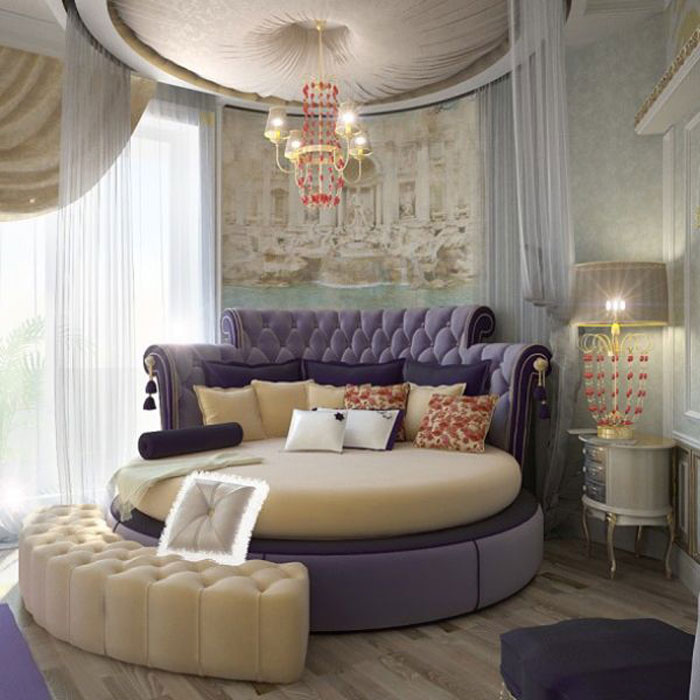 72436602155 Designs of round beds for your bedroom