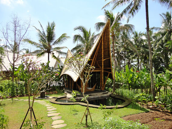 bal2 Eco-friendly houses as part of a green village in Bali Designed by Ibuku Studio