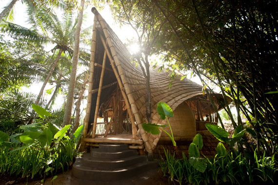 bal3 Eco-friendly houses as part of a green village in Bali Designed by Ibuku Studio