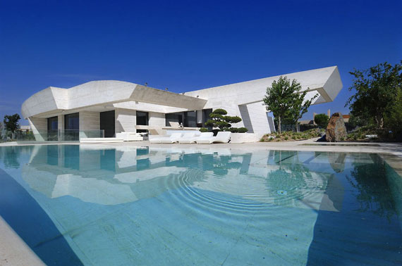 m6 house with marble exteriors Designed by A-Cero in Pozuelo de Alarcón, Madrid