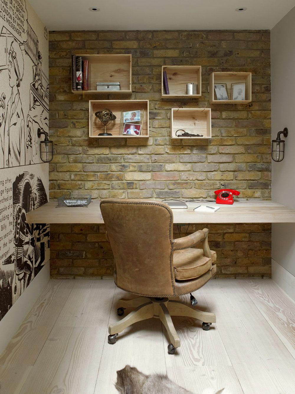 Diy-wall-desk-for-a-pleasant-job8 DIY wall-mounted desk design ideas