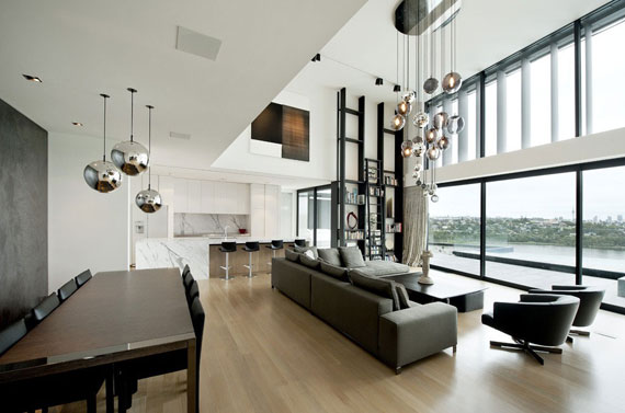 cls9 Modern black and white dream house: Lucerne House by Daniel Marshall Architects