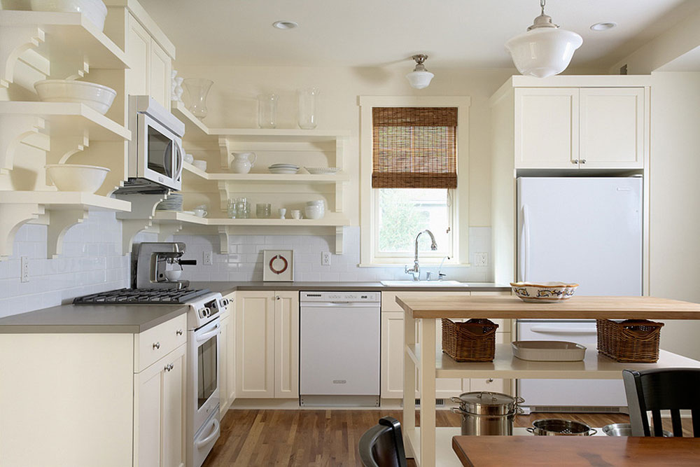 Open kitchen cabinets are easier to use2 Open kitchen cabinets are easier to use