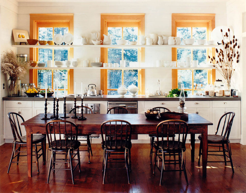 Open kitchen cabinets are easier to use8 Open kitchen cabinets are easier to use