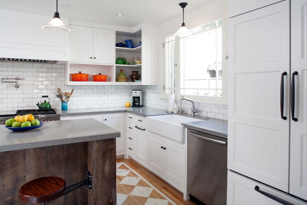 Open kitchen cabinets are easier to use9 Open kitchen cabinets are easier to use
