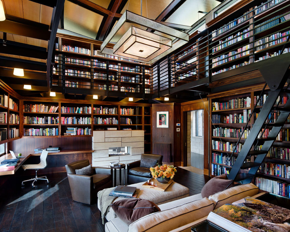 Creating a Home Library Design Makes for a Relaxing Space13 Creating a Home Library Design makes for a relaxing space