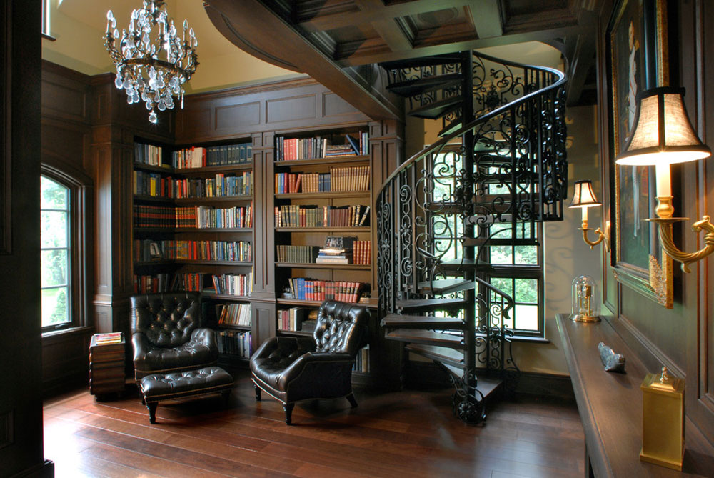Creating a Home Library Design Makes for a Relaxing Space10 Creating a Home Library Design makes for a relaxing space