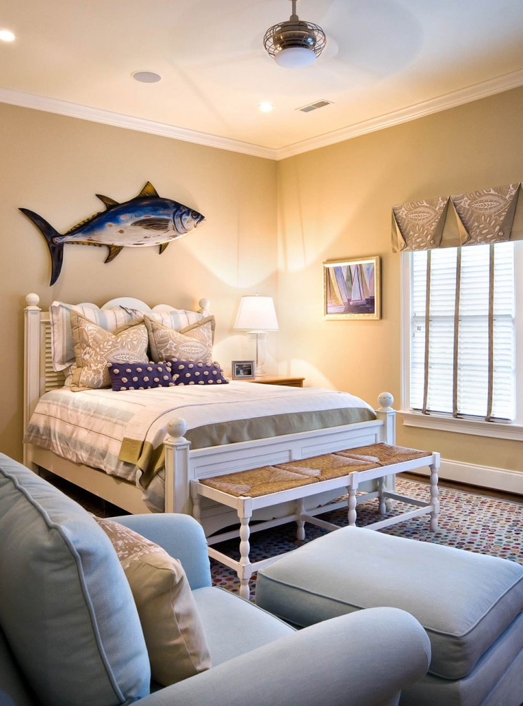Beach-Style-Bedroom-1-759x1024 How to choose the furniture for your guest room