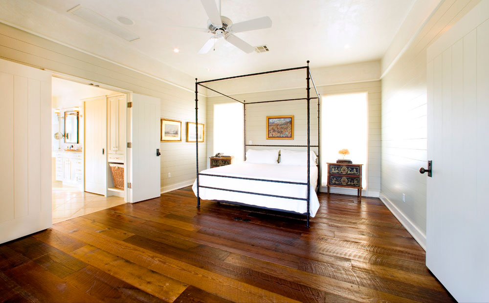 rustic bedroom selection of the best flooring for pet owners